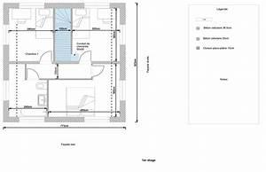 dlicieux plan maison etage chambres maison tage m chambres With amazing type de toiture maison 9 plan maison en u en bois ooreka