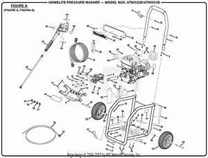 Homelite Ut80953b Pressure Washer Parts Diagram For Figure A
