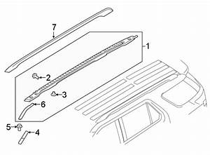 Ford Explorer Roof Rack Cover  Rear   W  O Sunroof  Carbon