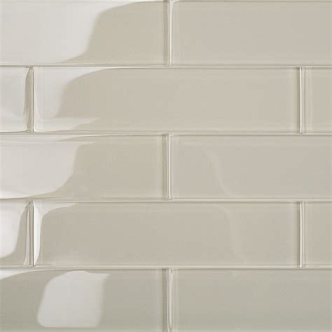 2x8 Subway Tile Kitchen by Shop For Loft Sand Polished 2x8 Glass Tile At