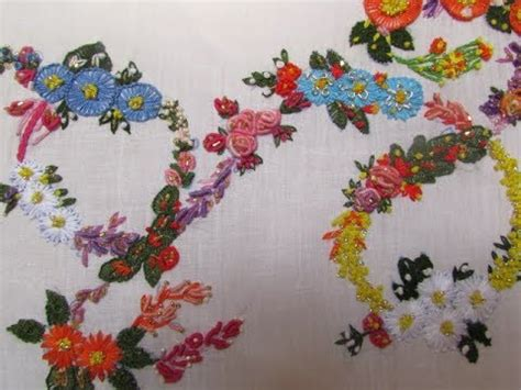 hand embroidery monogram floral letter youtube