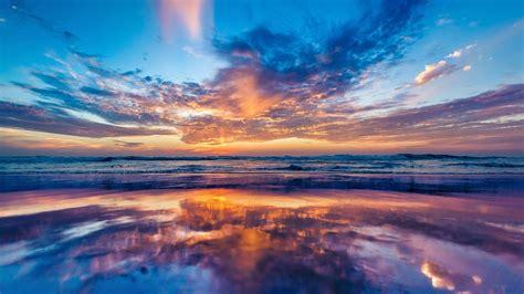 2048x1152 Ocean Sky Sunset Beach 2048x1152 Resolution Hd