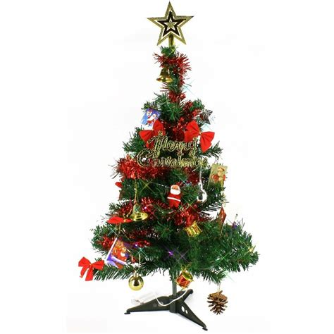 miniature led christmas tree w solar charger 2 ft artificial mini tabletop tree green with multi color led light ebay