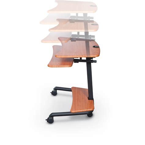 mobile sit stand desk up rite workstation mobile adjustable sit and stand desk