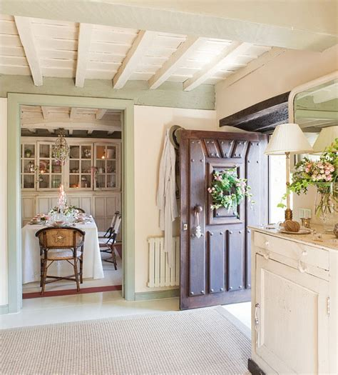 cottage home interiors french country cottage with christmas decor home bunch interior design ideas
