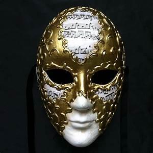 Beautiful Music Hand Paint Full Face Masquerade Masks ...