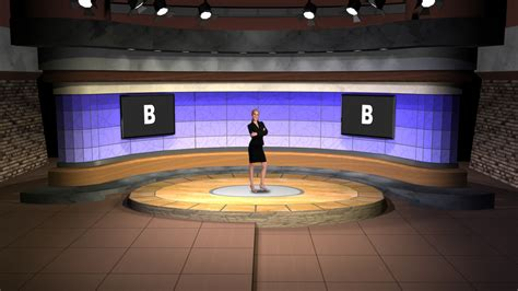 virtual set studio      talk show set