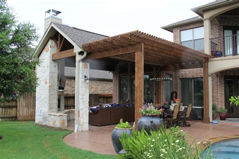 patio covers outdoor kitchens fire features  katy tx