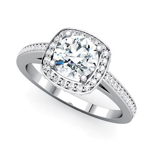 Nice Pic Of Wedding Ring With Three Stone Engagement Ring