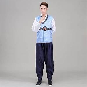 High Quality Men Korean Traditional Hanbok Male Oriental Stage Dance Costume Men Korea Hanbok ...
