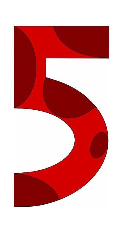 Clipart Number Clip Five Numbers Cliparts Senses