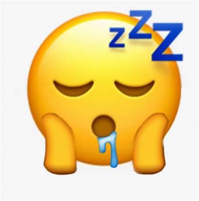 Emoji Tired Emojis Sleeping Clipart Face Sleep