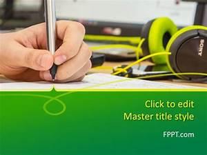 Microsoft Powerpoint Themes 2010 Free Writing Powerpoint Template Free Powerpoint Templates