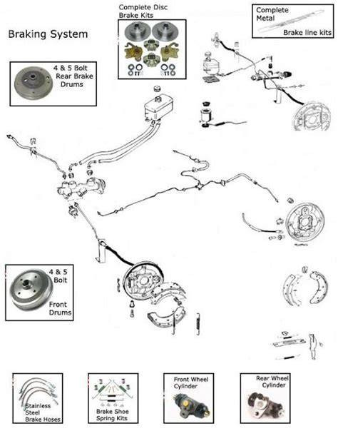 Beetle Volkswagen Brake Diagram Bug