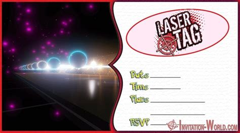 laser tag birthday party invitations invitation world