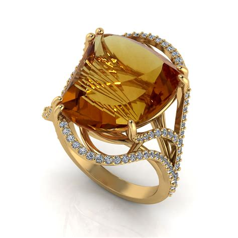 artisan citrine ring jewelry designs