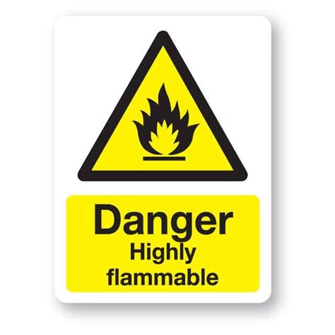 Danger - Highly flammable sign, 300x400mm