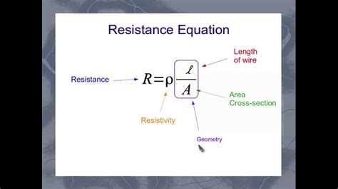 equation   resistance   wire youtube
