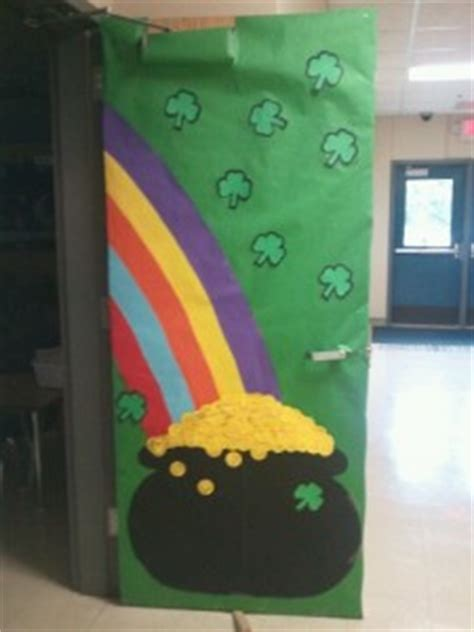 st patricks day door decoration idea crafts