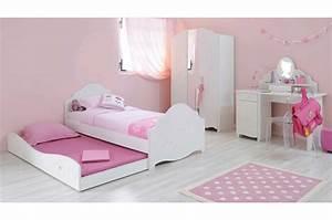 Lit Princesse Fille : magnifique chambre de fillette ~ Teatrodelosmanantiales.com Idées de Décoration