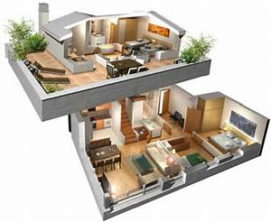 planos de casas modernas para descargar With marvelous maison sweet home 3d 16 plan de maison 60m2 3d