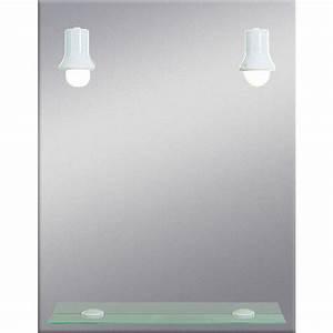 miroir salle de bain avec tablette et eclairage meilleur With miroir salle de bain avec eclairage et tablette