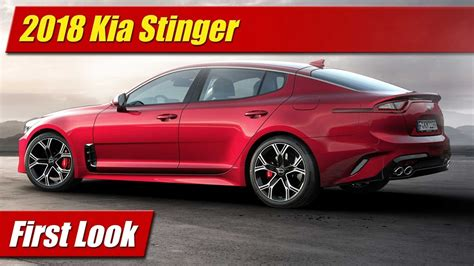 First Look 2018 Kia Stinger Testdriventv