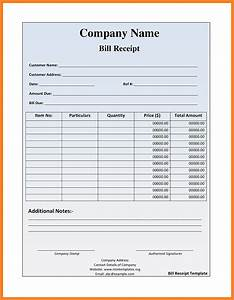 5 food bill receipt formats letter bills With bill receipt template