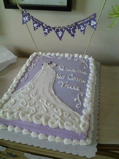 bridal shower sheet cake with a diy banner with bride s