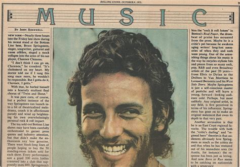 Bruce Springsteen's 1975 experience