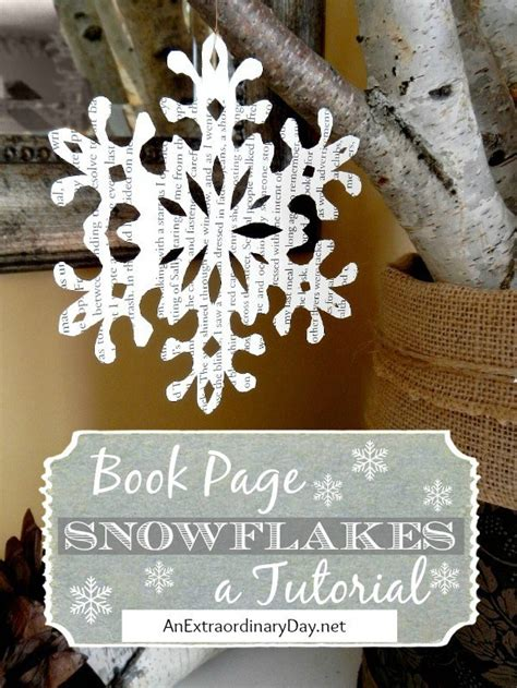 book page decorating snowflake cutting tutorial