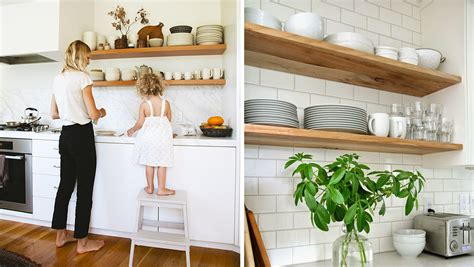 deco etagere cuisine comment organiser des étagères ouvertes dans la cuisine