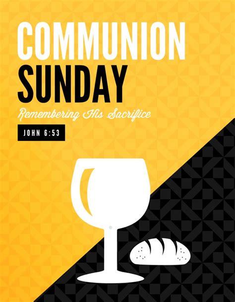 communion sunday remember ministry flyer