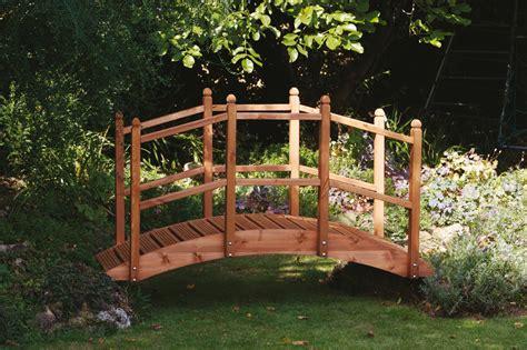 wooden garden bridge ornament decorative feature teak