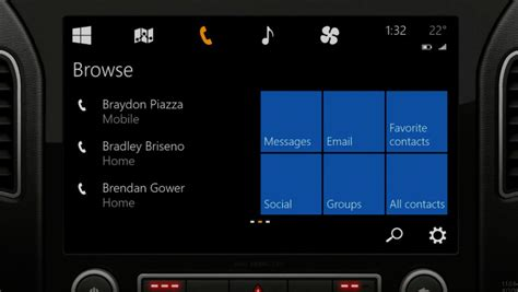 Car Apps For Windows 10 by Microsoft Unveils Windows In The Car Battles Apple