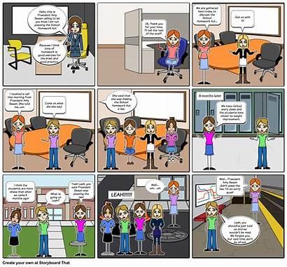 Comic Strip Storyboard