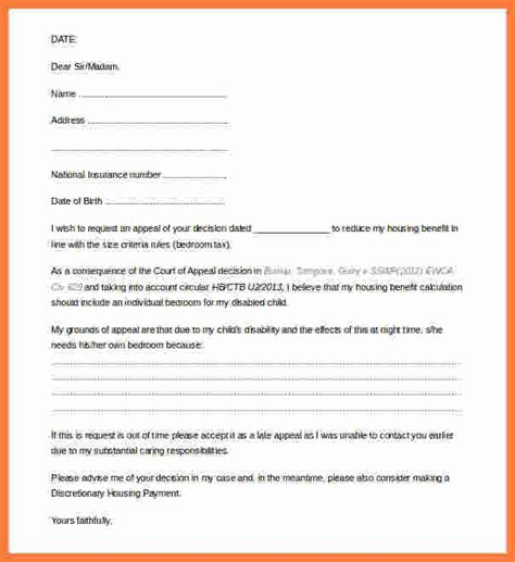 appeal letter format marital settlements information