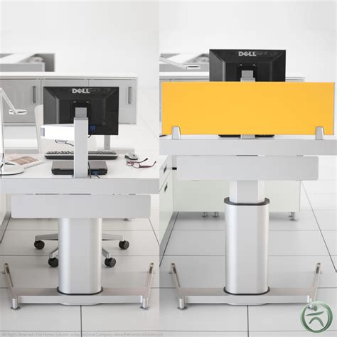 airtouch adjustable height desk shop steelcase airtouch height adjustable desks