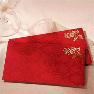 classical chinese envelope for gift cards flower wedding With wedding invitation with money envelope