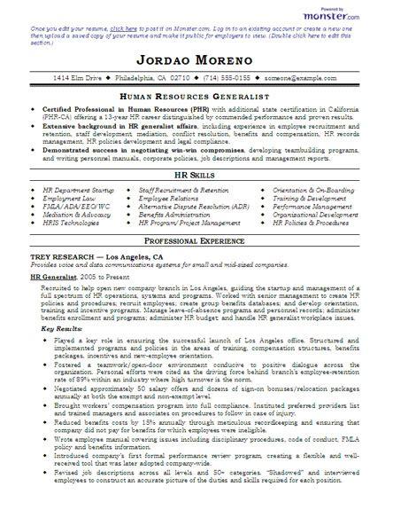 hr generalist resume resume badak