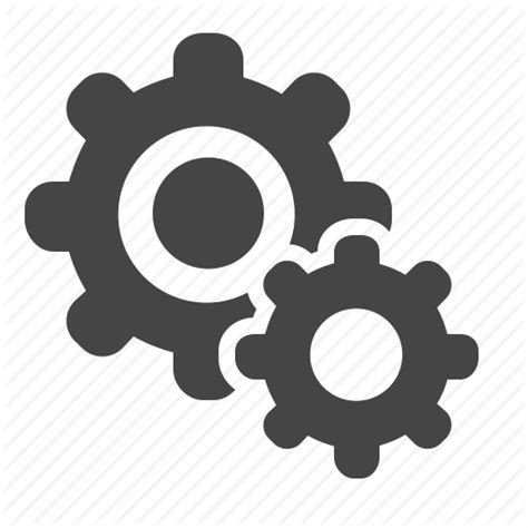 Config, Gear, Preferences, Service Icon