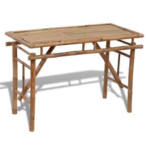 Acheter Table Pliable En Bambou Pas Cher Vidaxlfr