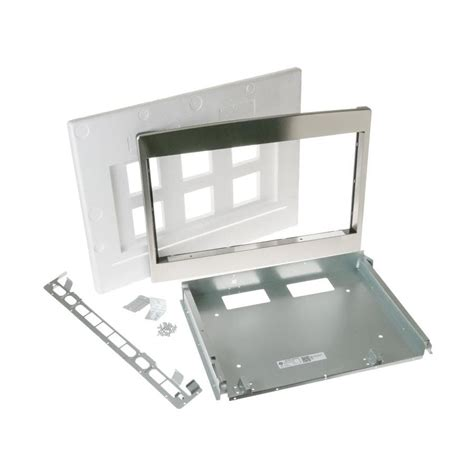 shop ge built  microwave trim kit stainless steel  lowescom
