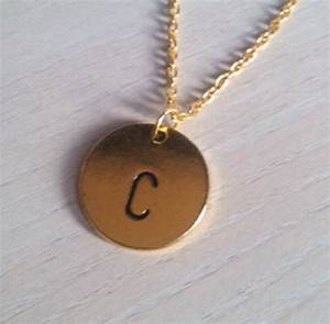 initial necklace personalized discs charm custom letter With personalized letter necklace