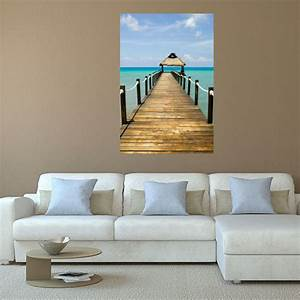 Beach boardwalk wall decal mural wall decal world for Beach wall decals