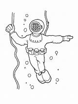 Scuba Coloring Pages Diving Printable Mycoloring sketch template