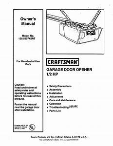 Craftsman Garage Door Opener Manual 41a5021