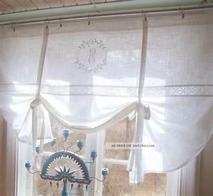 Shabby Chic Gardinen : lillabelle crystal scheiben gardine 120x120 wei bestickt monogramm shabby chic ~ Eleganceandgraceweddings.com Haus und Dekorationen