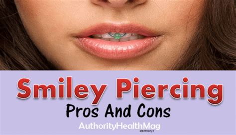 smiley piercing infection pain risks caution  jewelry