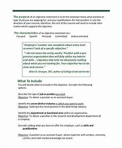 Best Objective In Applying A Job Free 6 Sample Resume Objective Templates In Ms Word Pdf